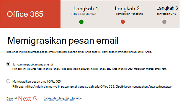 Melakukan migrasi email
