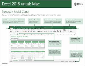 Panduan Mulai Cepat Excel 2016 untuk Mac
