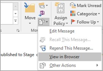Pilih tampilan di Browser.