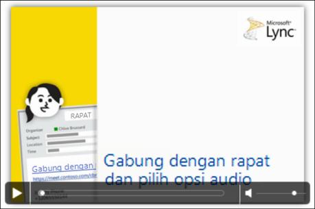Cuplikan layar slide PowerPoint dengan kontrol video