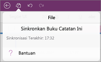 Tombol menu file