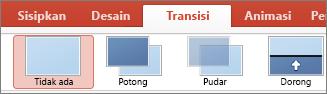Transisi PowerPoint untuk Mac