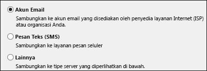 Tambahkan Akun Email Akun Baru Outlook 2010