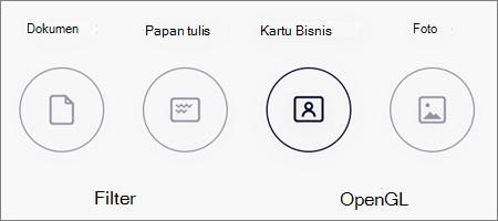 Opsi mode untuk pemindaian gambar di OneDrive untuk iOS