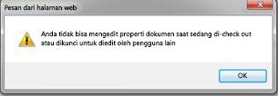 Pesan memberitahukan kepada Anda bahwa file dikunci oleh orang lain