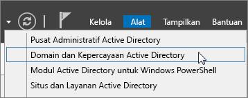 Pilih Domain Direktori Aktif dan Kepercayaan.