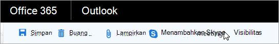 Menambahkan rapat Skype ke email Anda