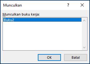 Memunculkan dialog Windows