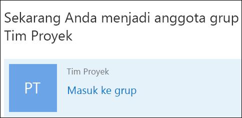 Bergabung dalam grup di Outlook