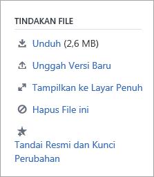 Bagian tindakan File