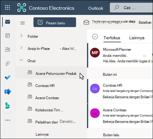 Grup Office 365 di Outlook