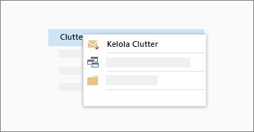Cuplikan layar konseptual fungsi Clutter