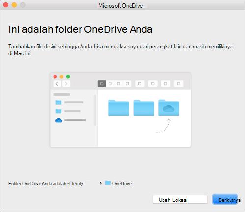 Tangkapan layar dari halaman Ini Adalah Folder OneDrive Anda di panduan Selamat Datang di OneDrive pada Mac