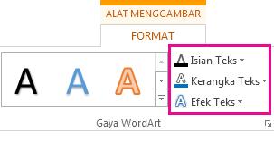 Grup Gaya SmartArt pada tab Format Alat Menggambar