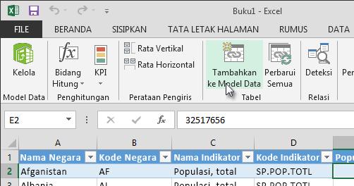 Menambahkan data baru ke Model Data
