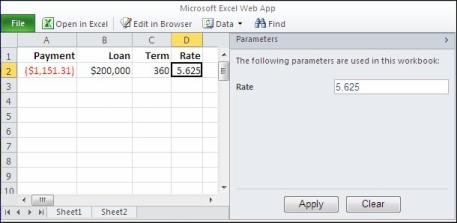 Menggunakan parameter di browser