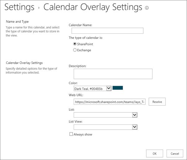 Overlay kalender membuat kotak dialog kalender.