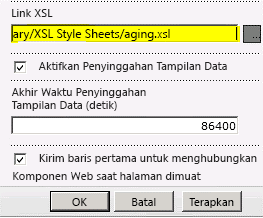 Link file XSL ditempelkan di