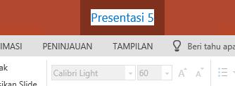Klik nama file di tengah bilah judul di dekat bagian atas jendela browser