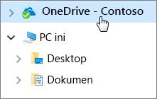 Mulai Cepat Karyawan: Dokumen Desktop dan OneDrive