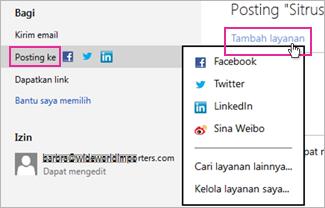 Memposting presentasi Anda ke jejaring sosial