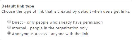 Kotak dialog tipe tautan default