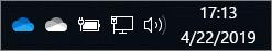 Klien Sinkronisasi OneDrive dengan ikon cloud berwarna biru dan putih