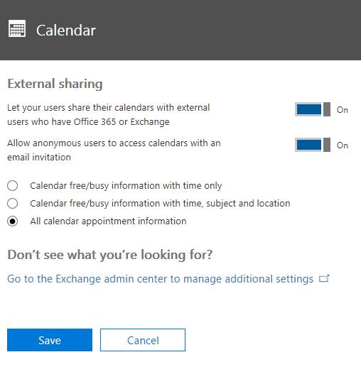 Di halaman Kalender, konfigurasi pengaturan sesuai dengan situasi Anda.