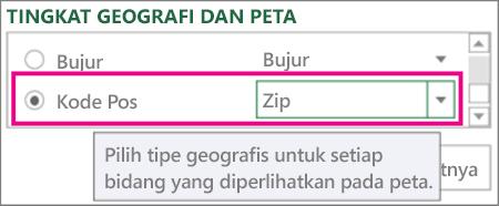 Peta Kode Pos untuk Zip