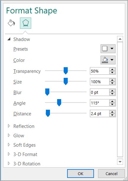 Kotak dialog Format Bentuk
