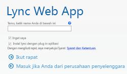 Layar Ikut Lync Web App untuk Rapat Lync 2013