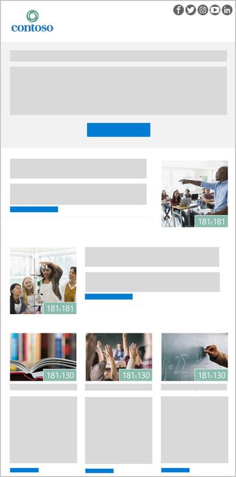 Templat buletin Outlook 5 gambar