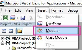 Pada menu sisipkan, klik modul.