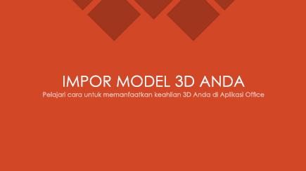 Cuplikan layar slide judul templat 3D PowerPoint