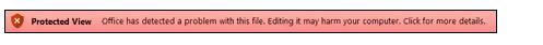 Tampilan Terproteksi dari kegagalan validasi file