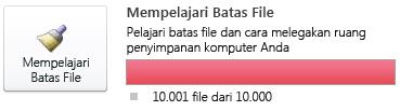Meter dokumen SharePoint Workspace, menggunakan 10.000 atau lebih dokumen