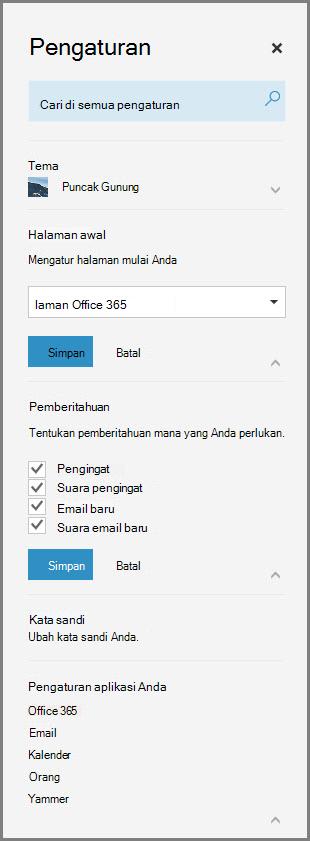 Pemberitahuan Office 365