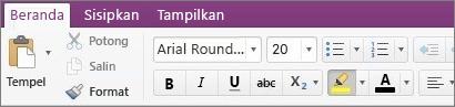 Klik tombol warna sorotan teks