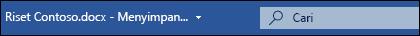 Kotak Microsoft Search di Word untuk Office 365