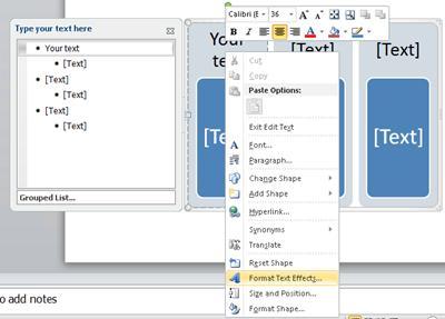 Grafik SmartArt dengan teks