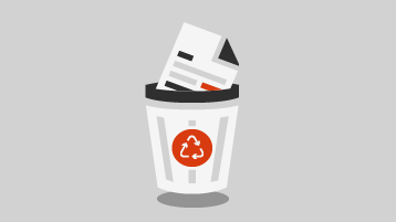 Dokumen dalam keranjang sampah