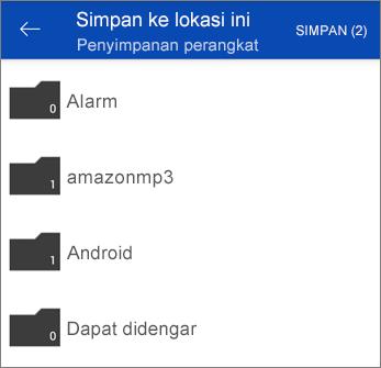 Menyimpan file dari OneDrive