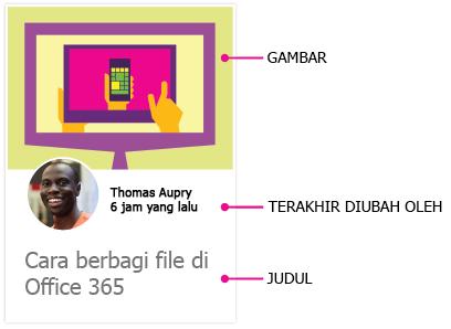Kartu konten Delve untuk Android