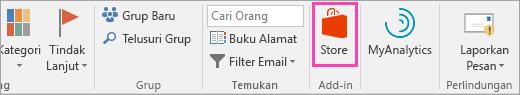 Cuplikan layar tombol Bursa