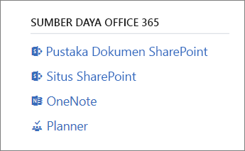 Sumber Daya Office 365