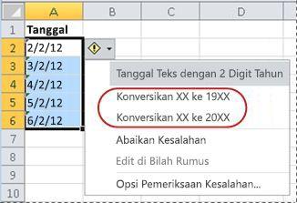 Perintah untuk mengonversi tanggal