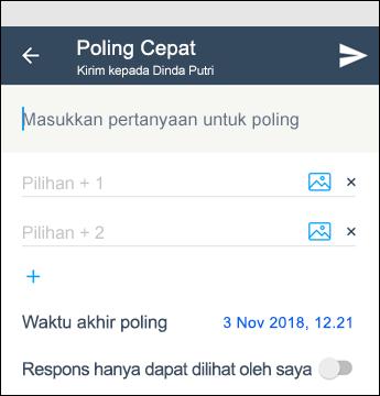 Polling cepat Kaizala