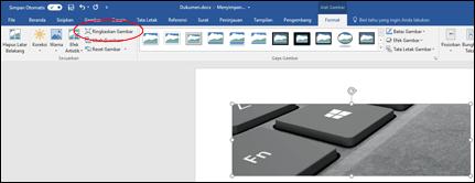 Tombol Kompresi Gambar dalam grup Sesuaikan di tab Format Alat Gambar