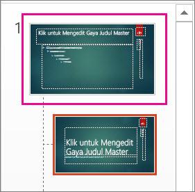 Gambar mini Master Slide di Tampilan Master Slide