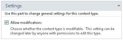 Pengaturan baca-saja untuk tipe konten